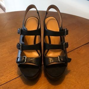 Gothic/ industrial style Wedge shoes